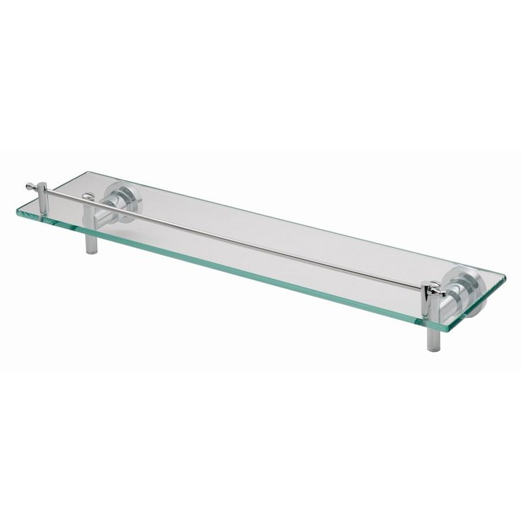 Mezzo Railed Glass shelf and Brackets - To place an order call us on 014198778