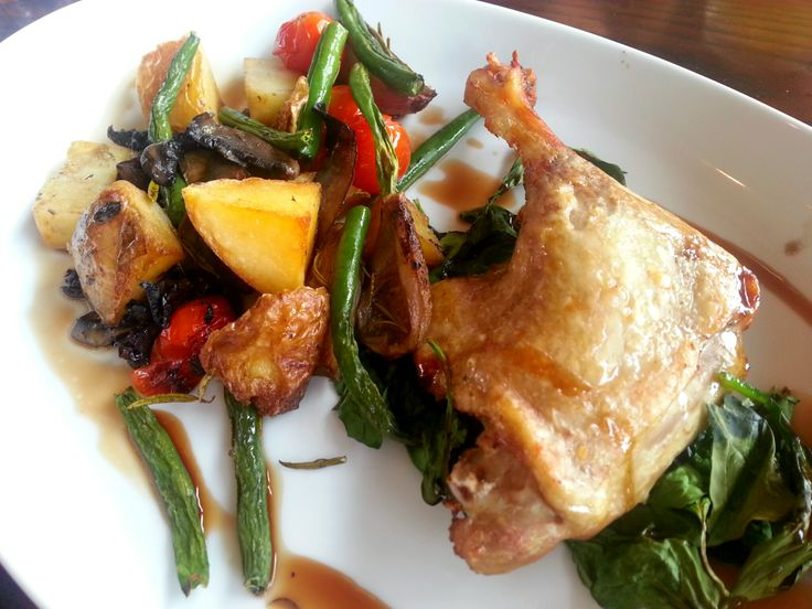 Duck with roasted vegetables @ The Pantry Manly