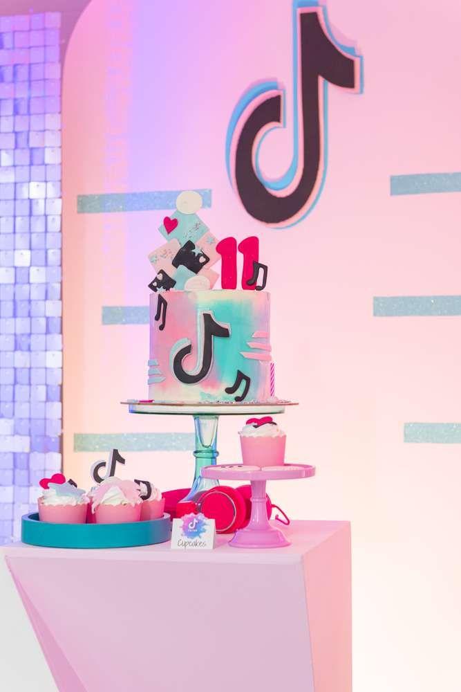Tiktok Party Birthday Party Ideas Photo 1 Of 9 In 2021 Birthday Party Themes 13th Birthday Parties Birthday Party