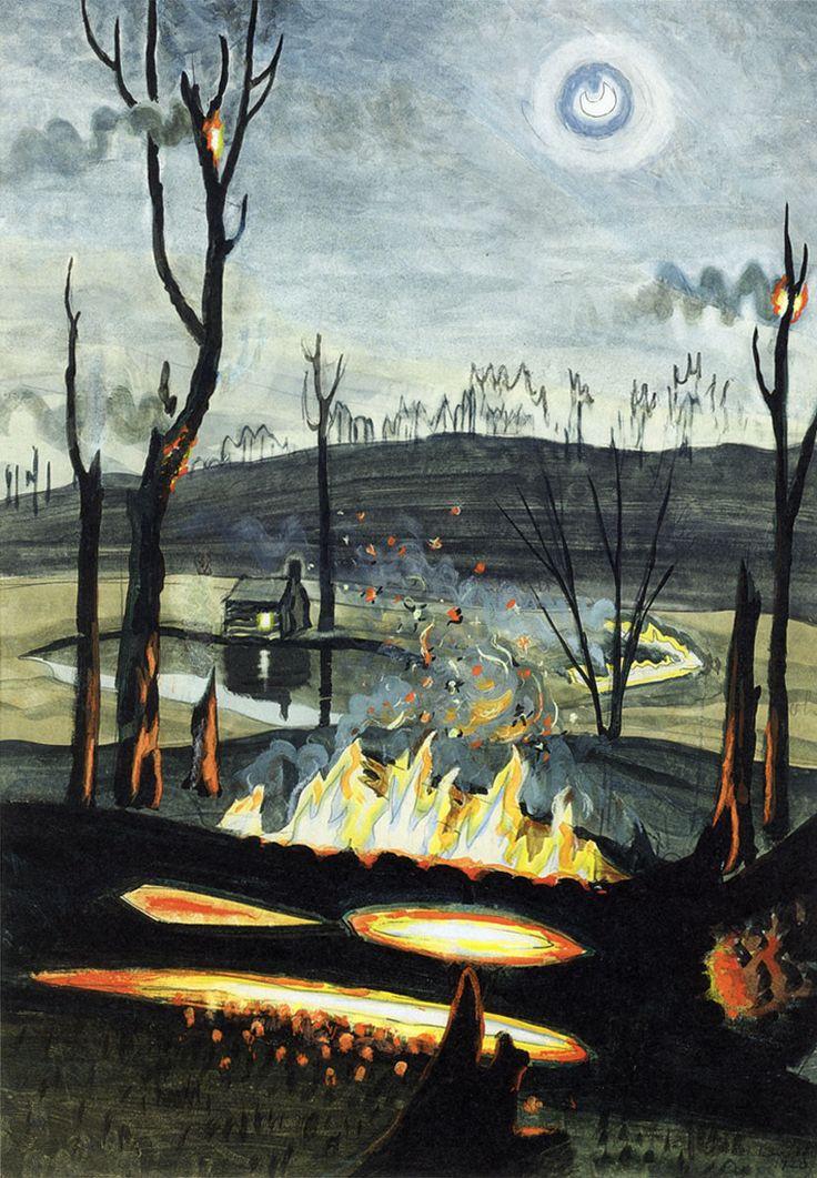 charles burchfield-查爾斯·伯奇菲爾德一位美國最原始的藝術家, 開發水彩畫的獨特風格, 和他對大自然深深的敬意(1893年至1967年)(第一輯)。。。 - milk  - ☆ Milk ☆ 平平。淡淡。也是真。