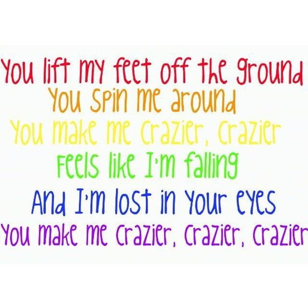 Crazier-Taylor Swift ❤ liked on Polyvore featuring quotes, taylor swift, lyrics, words, text, saying and phrase