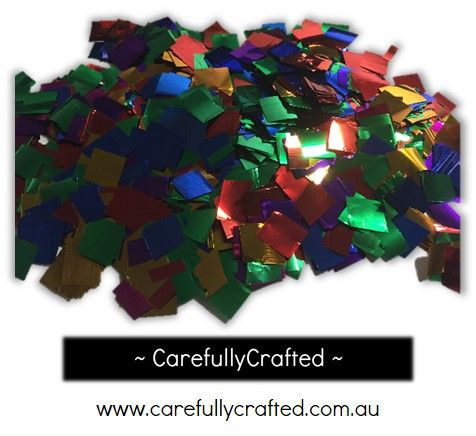 CarefullyCrafted - 25 Grams Tissue Foil Confetti - Rainbow - 0.25 inch Squares  - wedding, party, planning, confetti, foil confetti, squares, rainbow, confetti fun, event, party planning, event décor, décor, event http://carefullycrafted.com.au/25-grams-tissue-foil-confetti-rainbow-0-25-inch-squares-cs6/