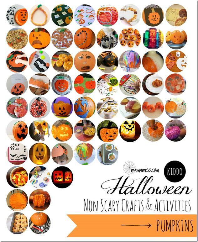 kiddo: Non Scary Halloween Crafts And Activities - pumpkins | Mama Miss #kidhalloween #pumpkin #kidcrafts #kbn