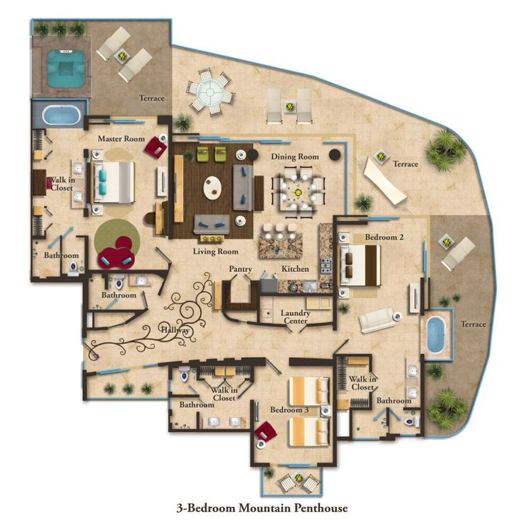 Marriott Residence Inn Floor Plans: Suite Layouts :: Garza Blanca Residence Club