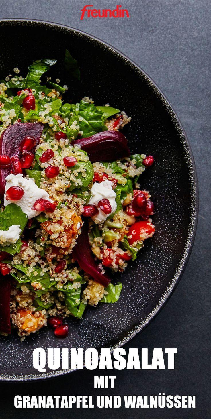 Leichte Küche: Quinoasalat mit Granatapfel und Walnüssen