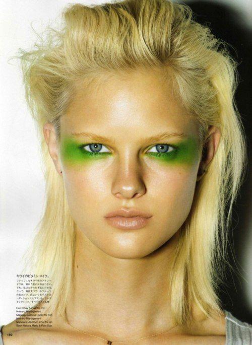 Green: Fruit, Day Makeup, Eye Makeup, Green Eyeshadows, Makeup Eye, Hair Looks, Raymond Meier, High Fashion Makeup, Vogue Japan