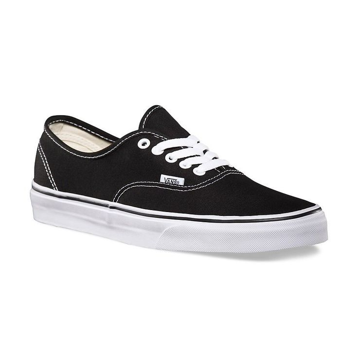 Vans The Authentic, Vans original and now iconic style, is a simple low top, lace-up with durable canvas upper, metal eyelets, Vans flag label and Vans original Waffle Outsole.