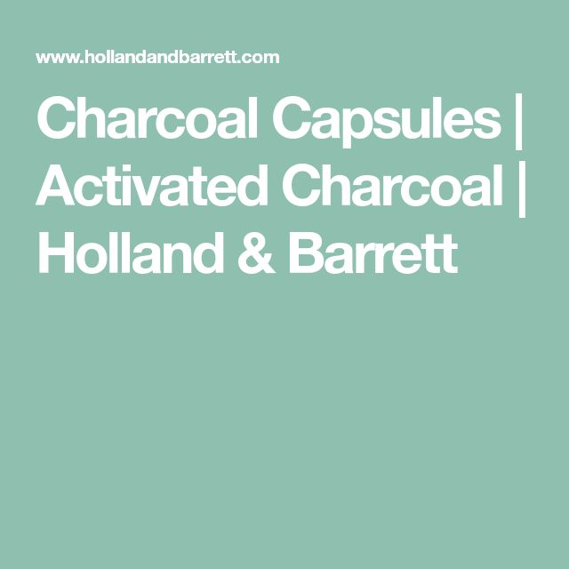 Charcoal Capsules | Activated Charcoal | Holland & Barrett