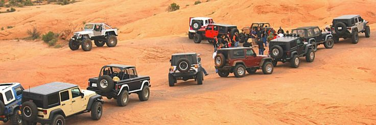 Easter Jeep Safari consists of trail rides, mostly day long trips, departing from Moab Utah throughout the 9 day long event.