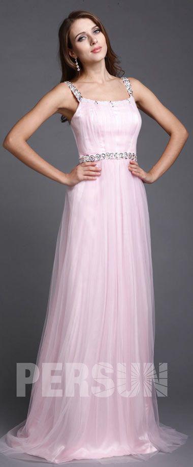 0efe826537b robe de soirée rose longue simple pour mariage orné de sequins ...