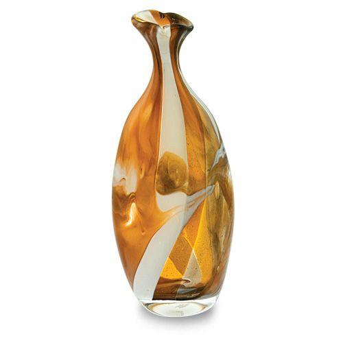 Michaelangelo Flat Barrel Bottle Open Top Vase. Purchase direct with international shipping: https://www.mdinaglass.com.mt/eshop-online/vases-bowls/michaelangelo/mic-333.html