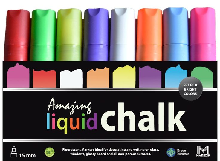 Amazon.com: 15mm Amazing Liquid Chalk Marker - 8 Pack - 3-In-1 Tip For Biggest & Boldest Lines - Attract More Customers! - Damage-Free Menu Board Marker - Bright & Bold Chalk-Style Lines - Multiple Sided Tip For Small AND Large Lines, Non-Toxic, Doesn't Smear, Wipes Off Easily
