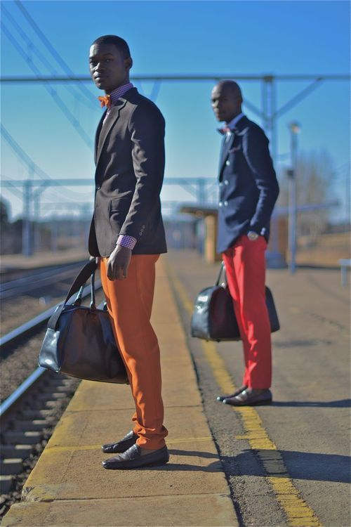 Sapeurs transportés / Sapology / colors / African Fashion / Streetstyle /  anthonybila:  SKORZCH | LOOKBOOK SS 2012/13  South Africa, Kempton Park   Photographed by: The Expressionist