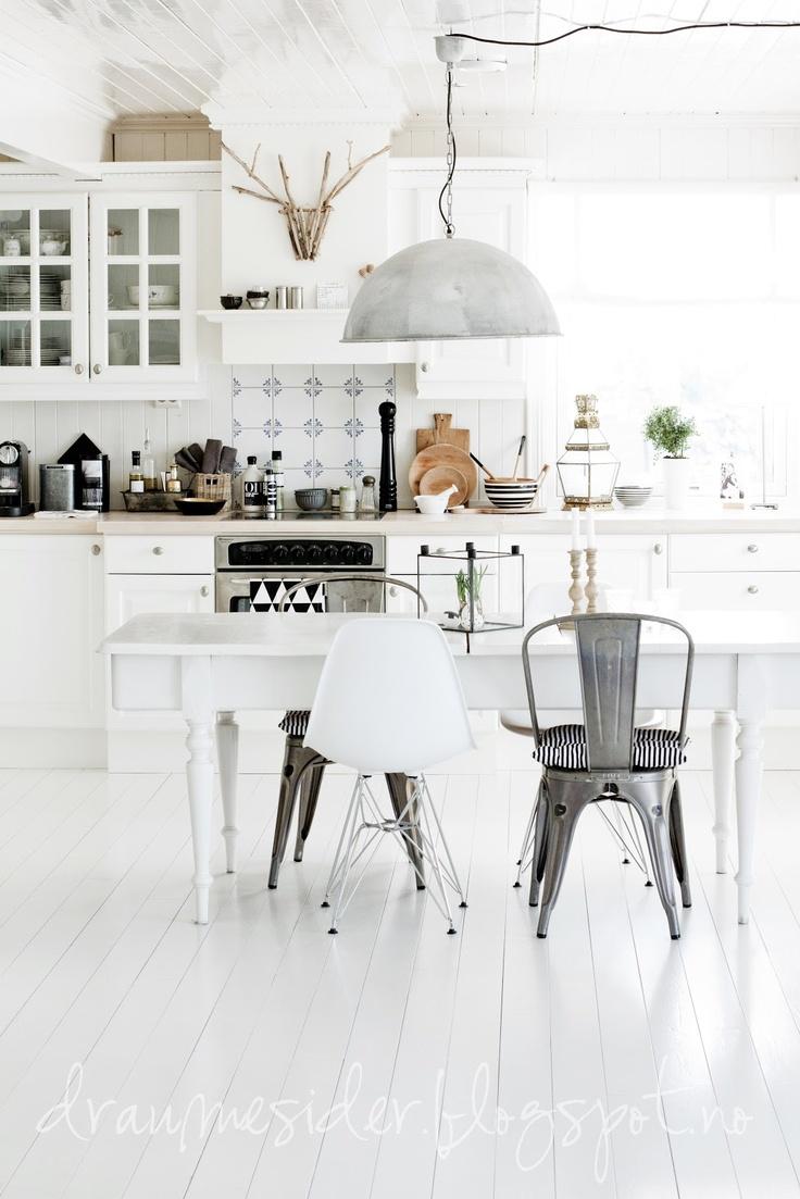 White floors white ceiling