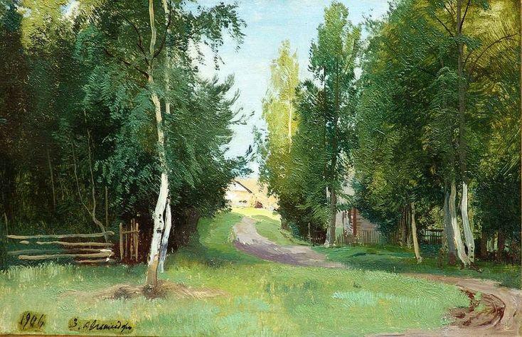 """Шильдер Андрей Николаевич (1861-1919) """"Дорожка к дому"""""""