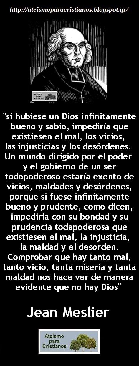"""Ateismo para Cristianos.: Frases Célebres Ateas. Jean Meslier """"El Cura Ateo""""."""