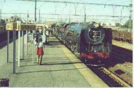 Tussen treine ... Springs stasie