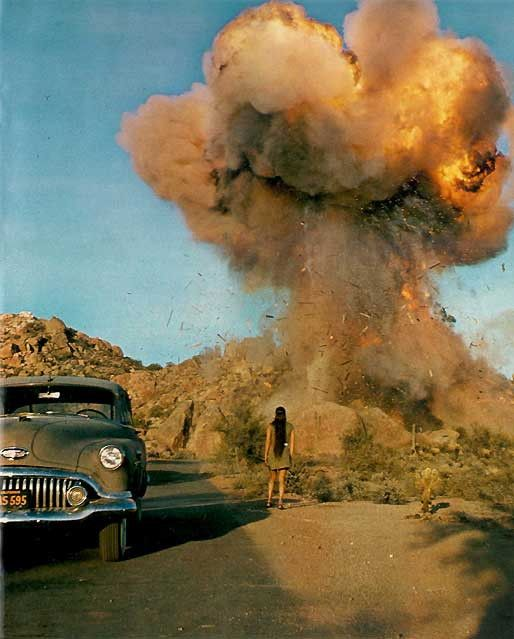 Lee's house, Phoenix    M. Antonioni's Zabriskie Point, 1970
