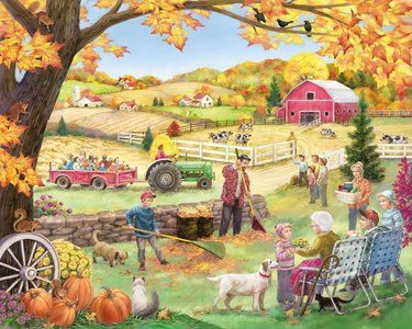Countryside Autumn (1000 Piece Puzzle by Vermont Christmas Co.)