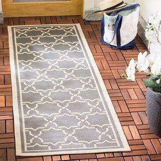 Safavieh Courtyard Thomasina Indoor/ Outdoor Rug (2'3″ x 14′ Runner – Blue/Beige)
