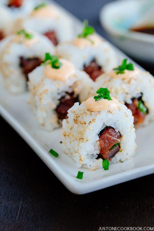Spicy Tuna Rolls スパイシーツナロール寿司