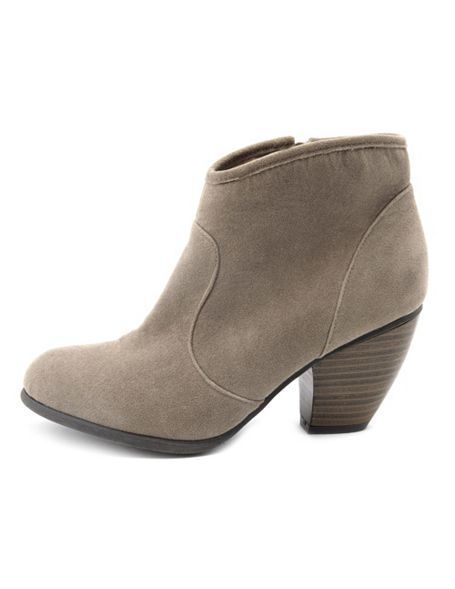 Low-Heel Sueded Western Boot: Charlotte Russe