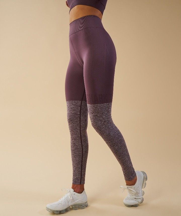 08caf962bca43 Gymshark- Twotone Seamless Leggings (Purple Wash) | Aesthetic ...
