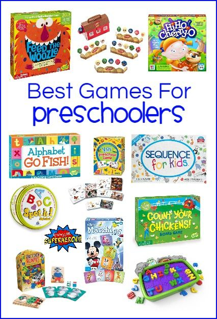 Children can learn how to work cooperatively, take turns, follow directions, math and reading skills, and strategic strategies while playing these Preschool Games.   Best Games for Preschoolers | Preschool Games | Preschool Learning Activities | Family Game Night