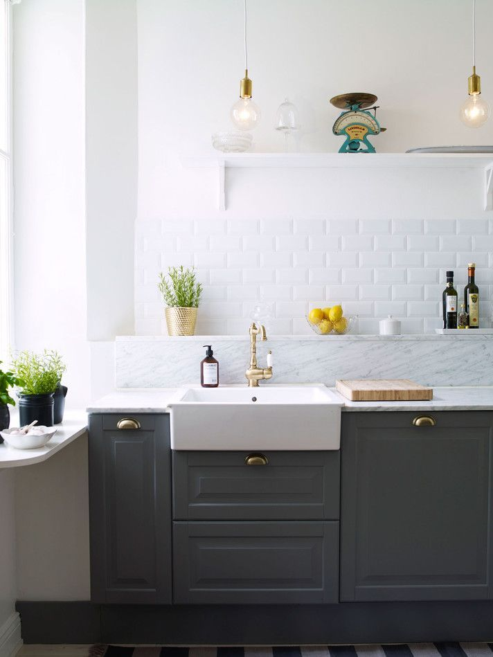 beautiful kitchens, dream kitchen, all white kitchen, colorful kitchen, butcher block countertops, blair staky, the fox and she