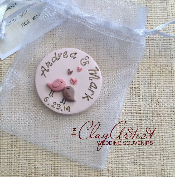 Polymer clay wedding souvenirs