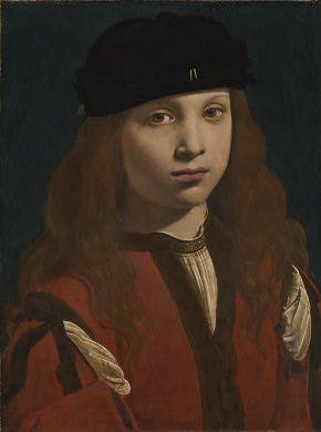 "A Youth ""1495-1498"" (Giovanni Antonio Boltraffio) (1467-1516) National Gallery of Art, Washington, D.C. 1946.19.2"
