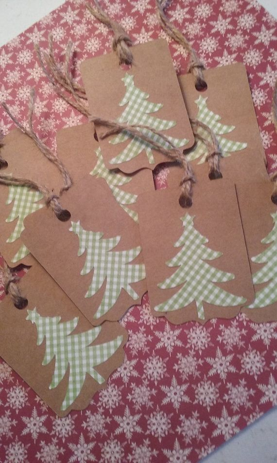 Christmas Tree Gift Tags Country Christmas Gift by KatlinLee123