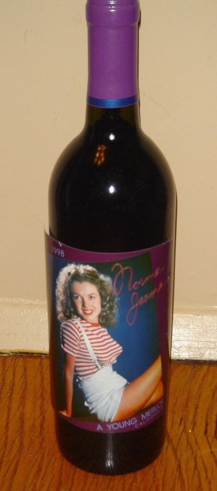 Marilyn Monroe Norma Jeane 1998 1st First Vintage Red Wine Collectible Bottle  #MarilynMerlotNormaJeane