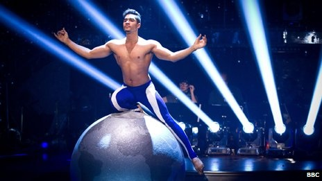 Louis Smith performs at the Strictly final