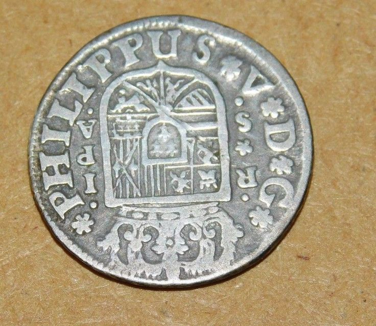 1732 Spanish Real  Coin : Silver : Used In Colonies : ** Excellent Condition ** #SpanishSilver