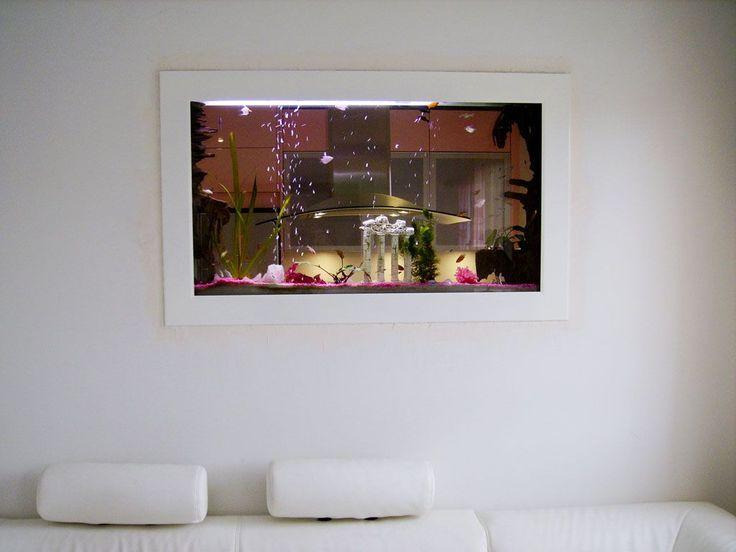Charmant Aquarium Moderne Design #10: Aquarium Mural Ou Aquarium Encastré Panoramiques, Www.aqualia.fr