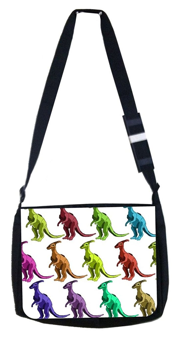 Colorful dinosaurs Rosie Parker Inc. TM Medium Sized Messenger Bag 11.75' x 15.5' and 4.5' x 8.5' Pencil Case SET >>> Be sure to check out this awesome product.