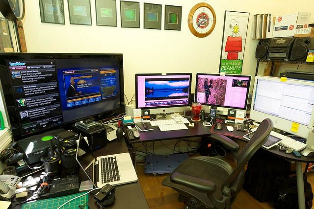 Home Office Workstation Nice Home Office Setups Pinterest