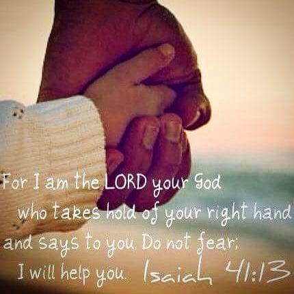 Trøst  Jesaja 41:13 #bibelvers #trøst #gudshjelpinøden #bibel #eksamen #biblevers #isahia
