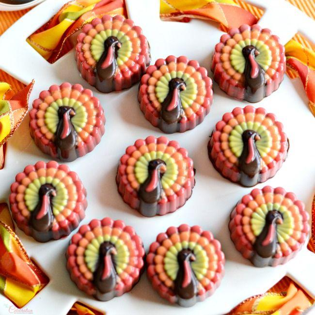 Decorated Chocolate Turkeys Www Dunmorecandykitchen Com: 26 Best Images About Thanksgiving Treats On Pinterest