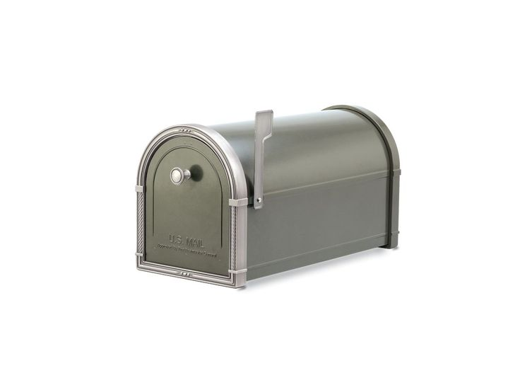 Architectural Mailboxes 5504 Post Mount Mailbox From Coronado Collection Bronze with Antique Nickel Trim Mailboxes Post Mailboxes Decorative
