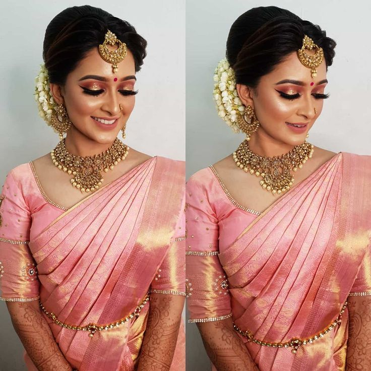 Hairstyles On Saree Wedding South Indian Wedding Hairstyles Bridal Sarees South Indian South Indian Bride Hairstyle