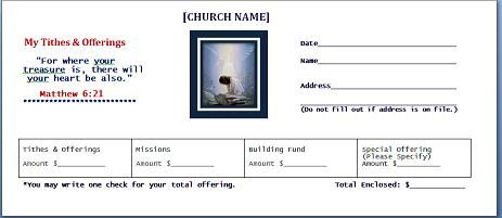 Church Offering Envelope Templates for your church tithing needs ...
