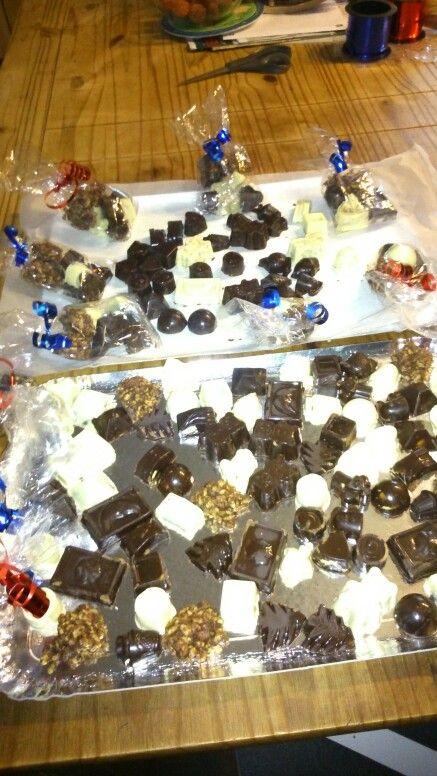Chocolat noir et blanc maison