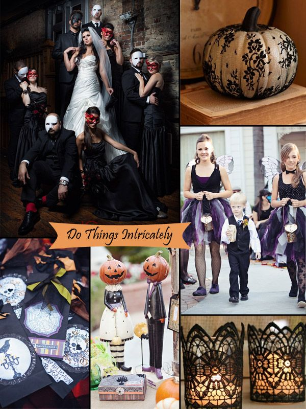Classy Halloween Inspired Wedding Themes with Lace Details