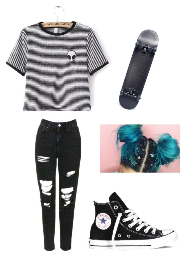 """Untitled"" by briannavaughn2004 ❤ liked on Polyvore featuring WithChic, Topshop and Converse"
