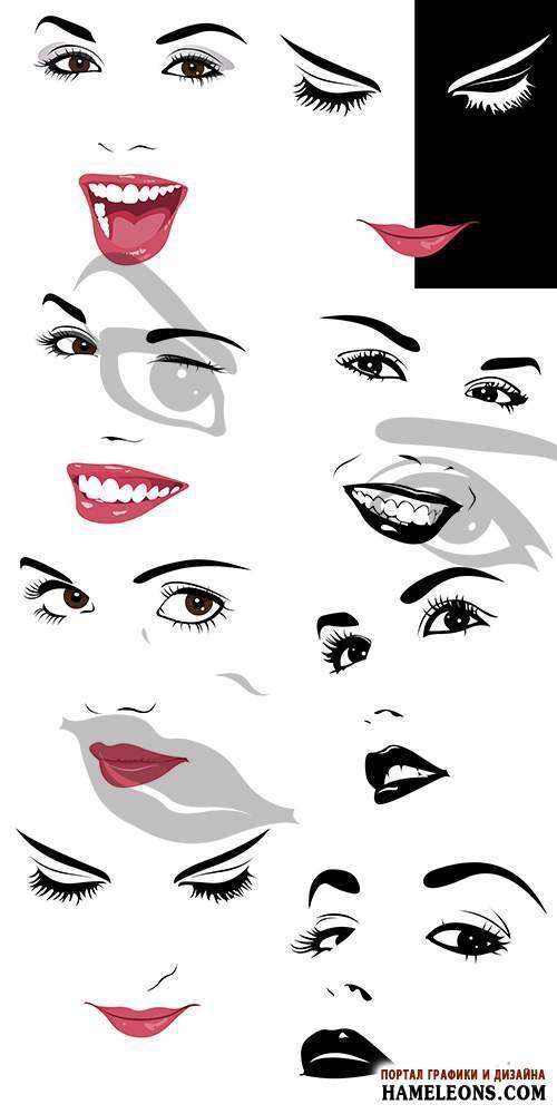 женские лица