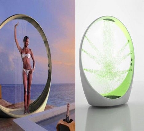 multi  sensory outdoor shower system loop by idiha design