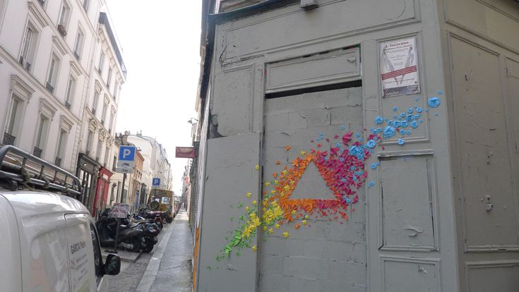 Origami Street Art: French Artists, En Origami, Colors Origami, Street Art, Origami Street, Art Ideas, Origami Art, Amazing Origami, Artists Mademoisel