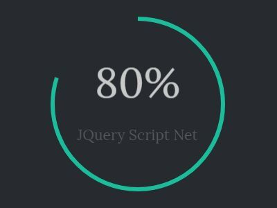 Just another #jQuery & HTML5 canvas based circular #progressbar which visualizes the percent value in an animated circle with a custom counter.
